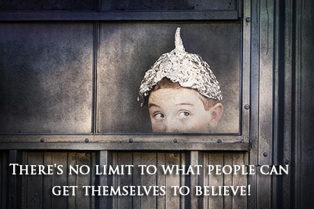 Boy with tin foil hat.