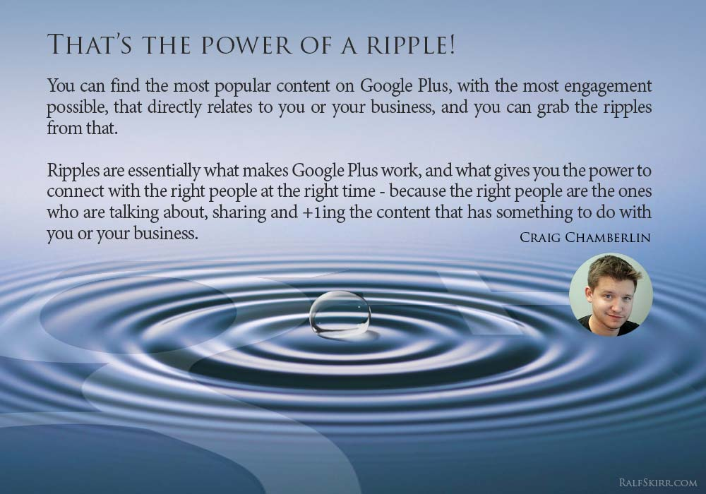 Craig Chamberlin Quote - The Power Of A Ripple