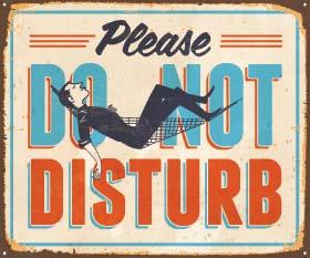do-not-disturb sign