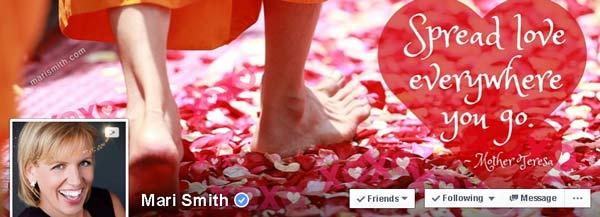 Screenshot Facebook Page of Mari Smith