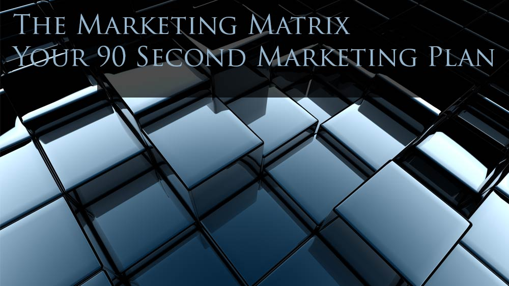 Cubes, and text. Marketing Matrix.