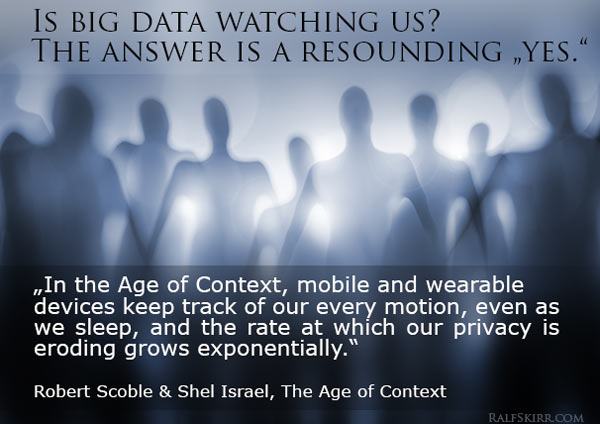 Quote from Age of Context about privacy.