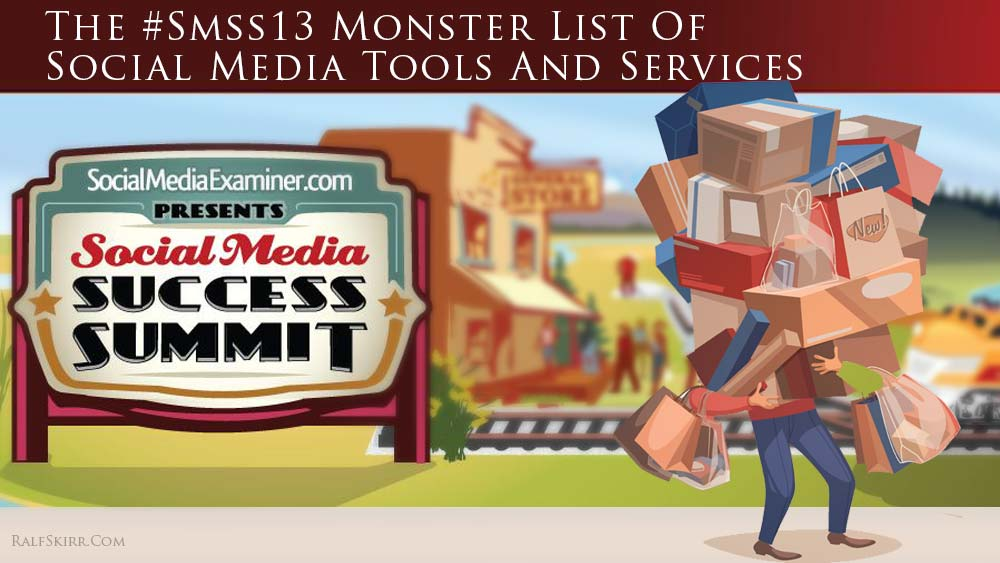 Title illustration for post 'monster list of social media tools'