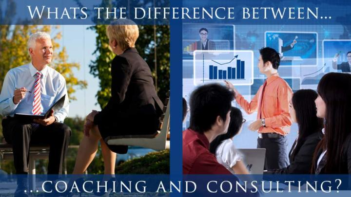 2 images of business coaching and consulting
