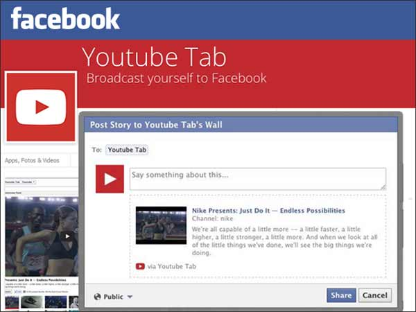 YouTube Tab for Facebook